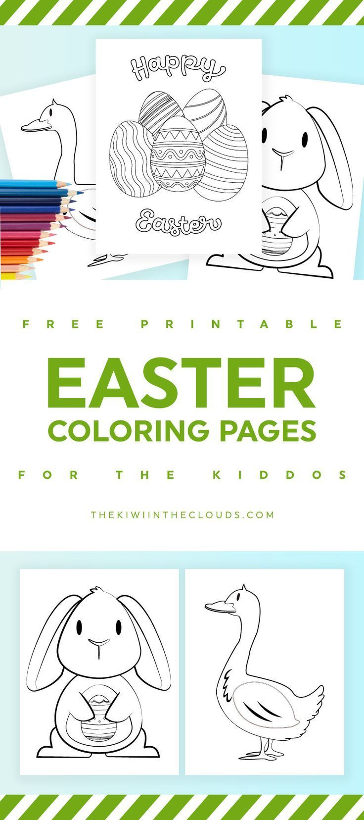 easter coloring pages for kids free printables kids activities - Free Printables Kids
