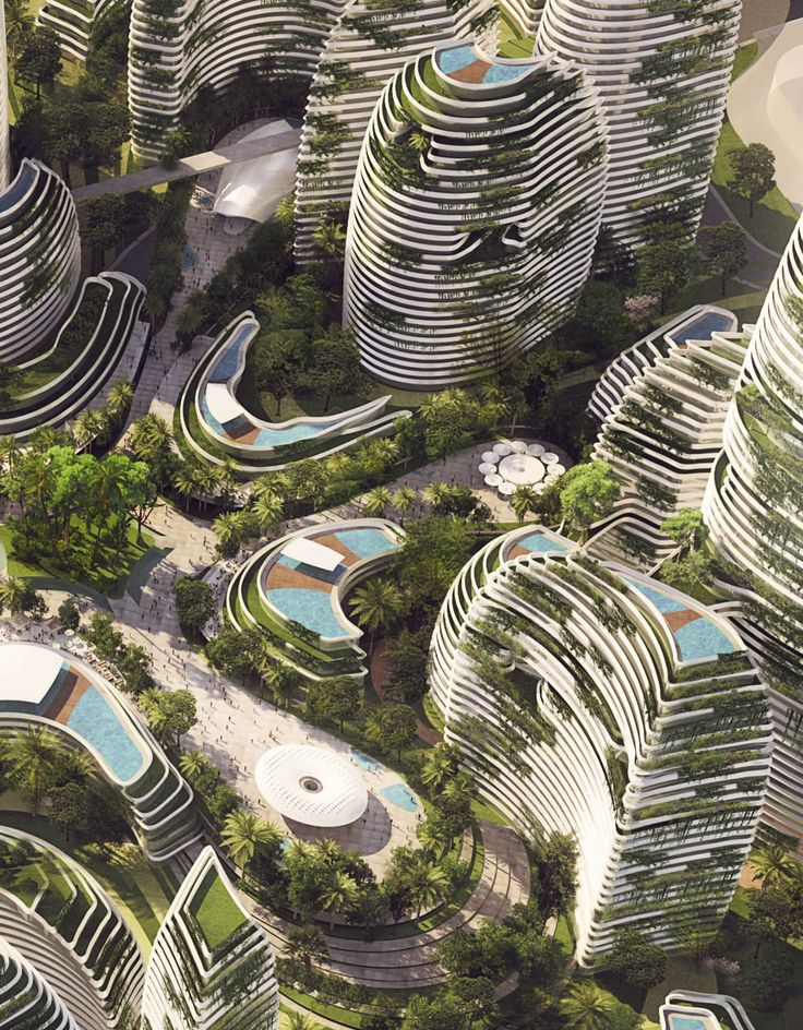 LAVA Reveals Runner-up Forest City Design in Malaysia