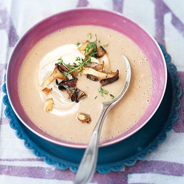 Maronen #Suppe mit Thymianpilzen, #Rezept