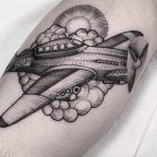 Dotwork Fighter Plane by Lawrence Edwards
