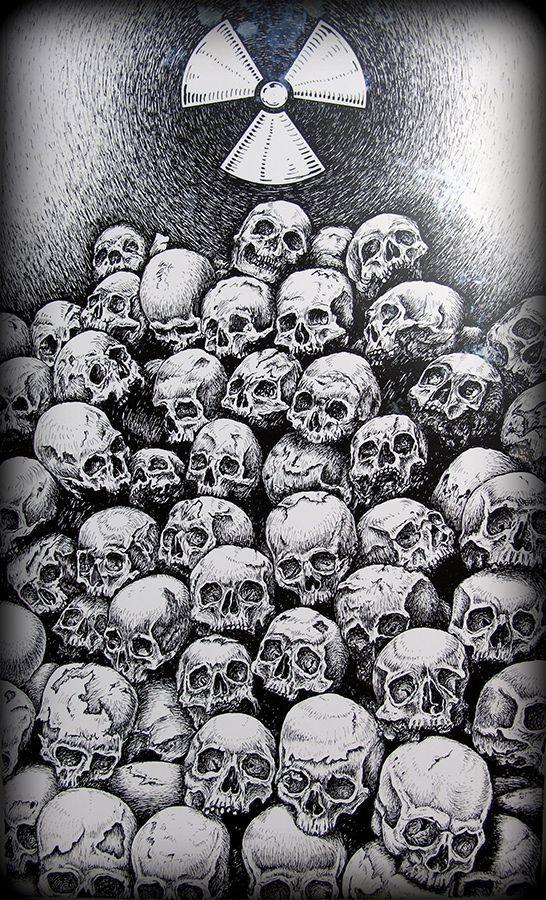 Pile Of Skulls Drawing By Eric Rignall Skulls Drawing Skull Wallpaper Skull Artwork