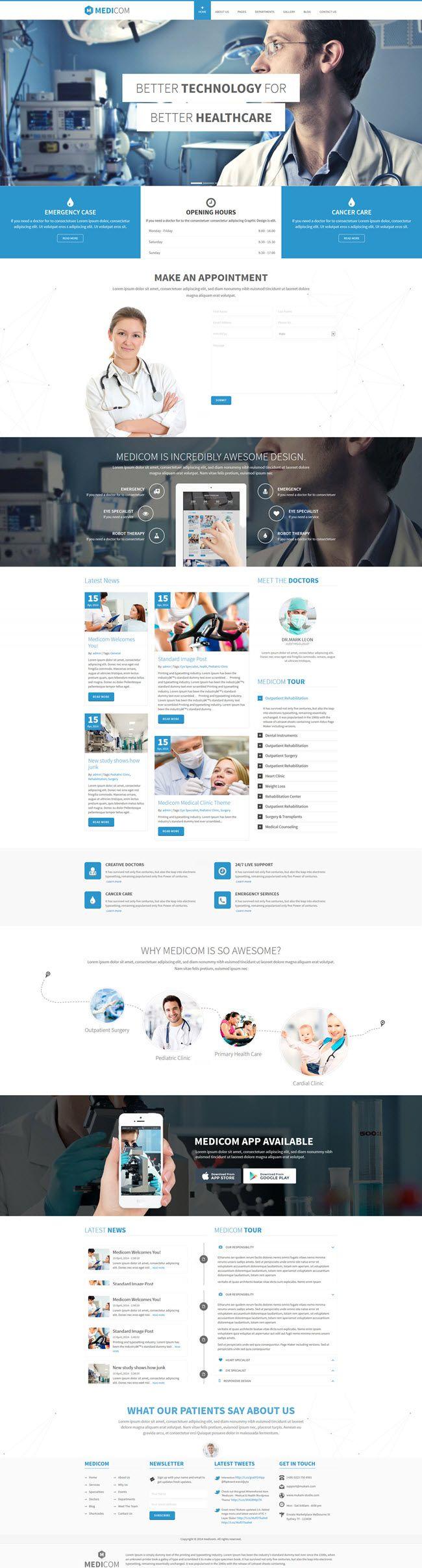 medicom screenshot Best Medical & Health WordPress Themes