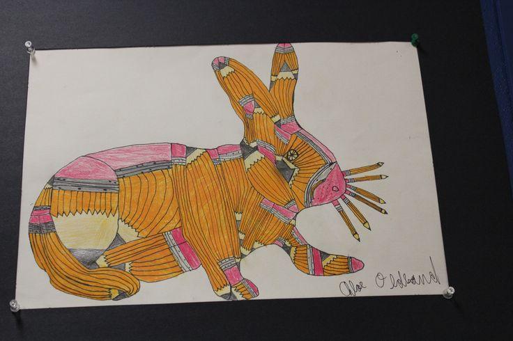 Pencils inspired this incredible artwork.