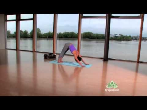Power Vinyasa Yoga for strength from My Yoga Online.  She shows great control in each position and transition.