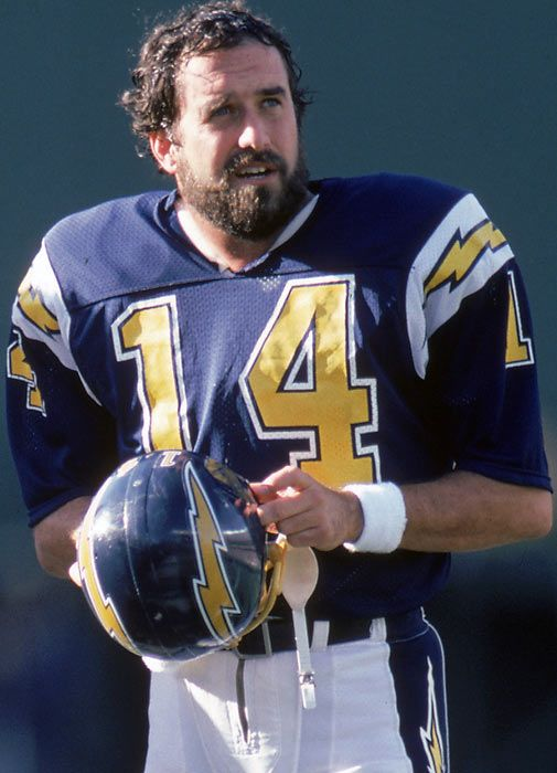 Dan Fouts-One of the most prolific passers in the NFL his offenses were very entertaining with John Jefferson and Charlie Joyner and of course Kellen Winslow