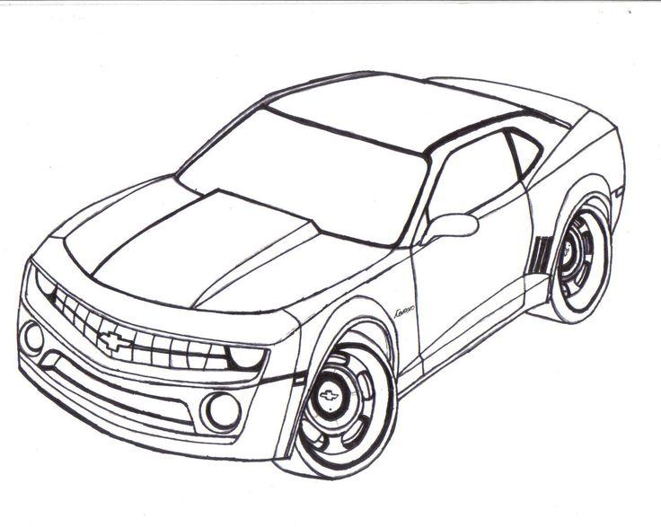 Camaro Black And White Drawing