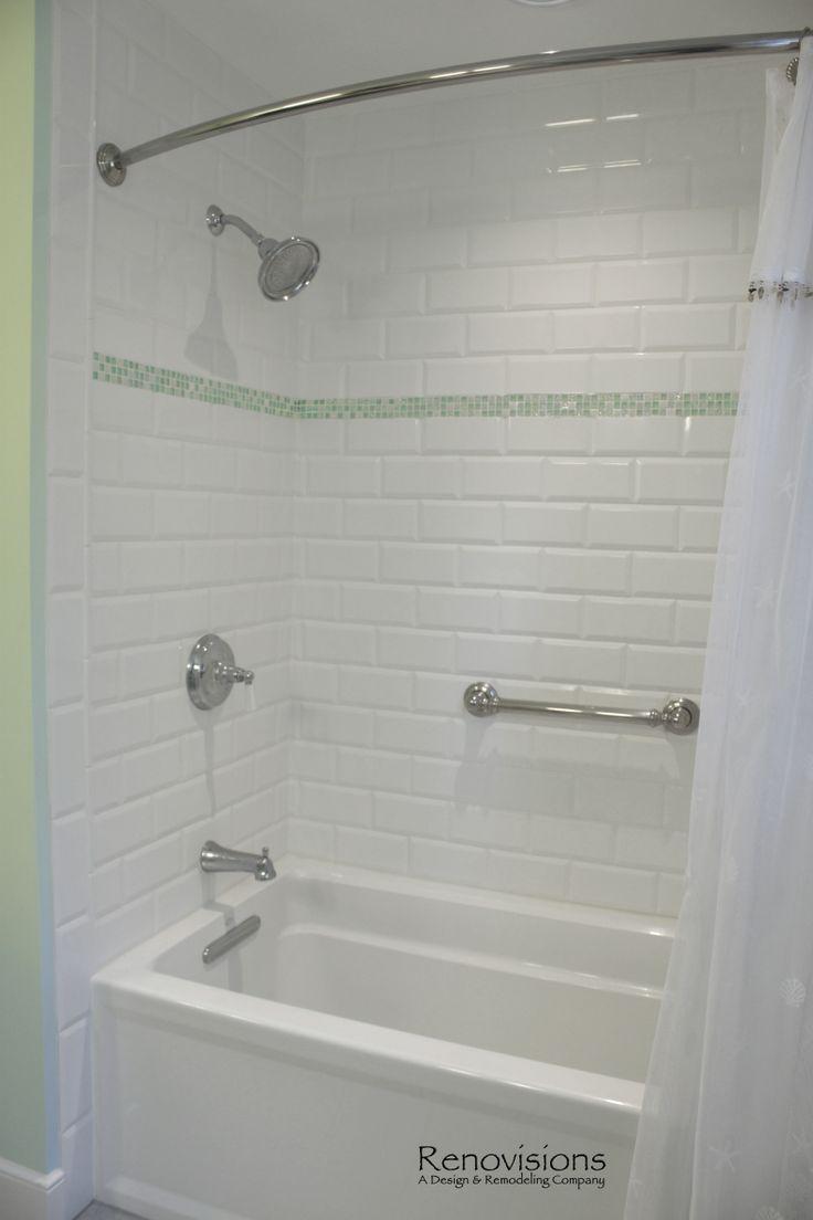 Bathroom Remodel By Renovisions Beveled Subway Tile