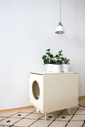 Katzentoilette DIY - Design für die Katze - Möbel selber bauen