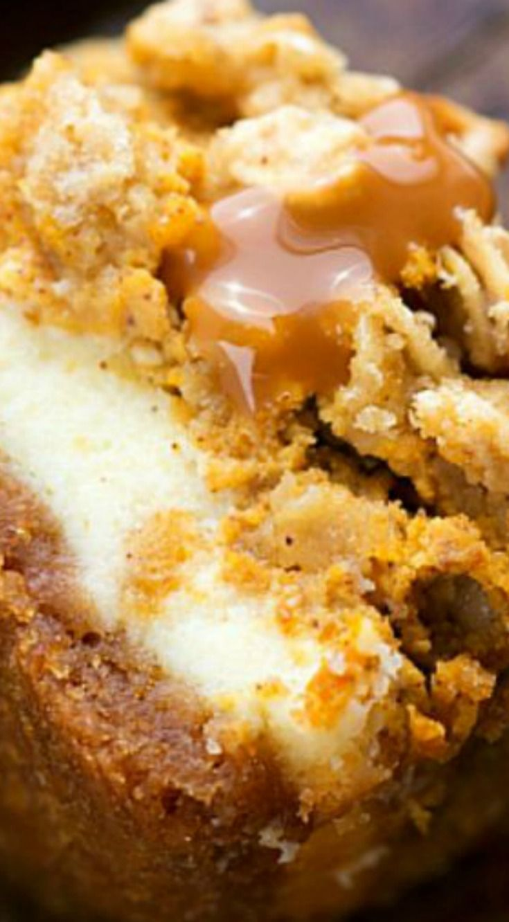 Pumpkin Caramel Cheesecake Bars with a Streusel Topping ...