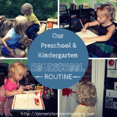 Our Preschool and Kindergarten Homeschool outine