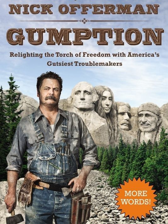 Enough about old white dudes.   Nick Offerman's 3 Steps To Creating A Better America