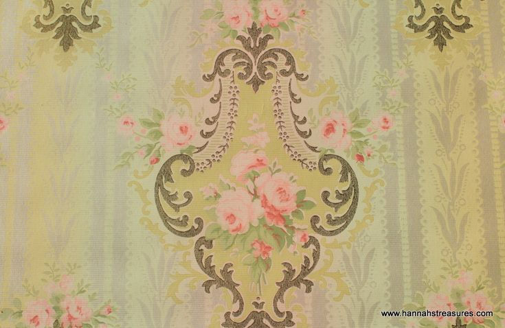 Pink And Black Victorian Wallpaper