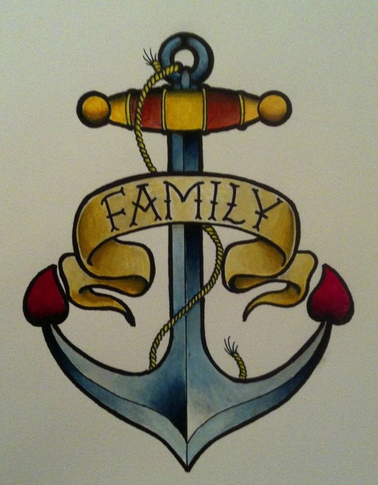 tattoo old school drawings, a still with a parchment with the word family
