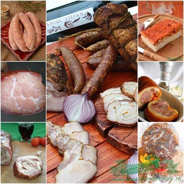 Retete traditionale din carne de porc.Cum se fac retetele traditionale din carne de porc .Toba, carnati, muschi afumat, caltabosi, kaizer