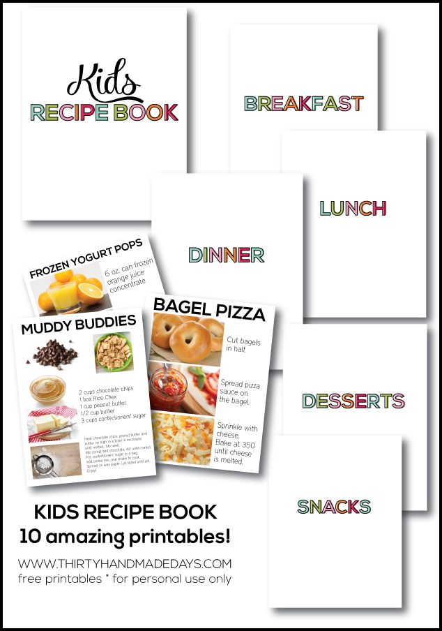 kids recipe book - Book For Free For Kids