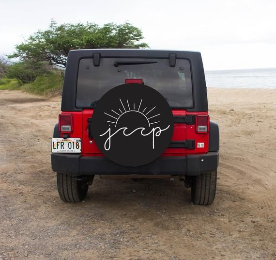Jeep Sun And Wave Tire Cover Spare Tire Cover Beach Design Tire