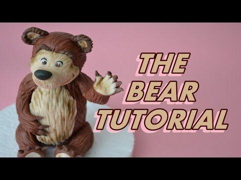 HOW TO MAKE THE BEAR (MASHA CARTOON) CAKE TOPPER FONDANT - ORSO PASTA ZUCCHERO TORTA - YouTube