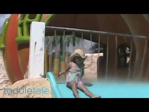 Little girl poops her pants on a water slide | Funny Accidents | toddletale