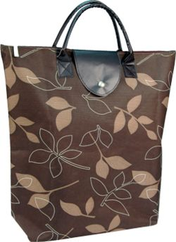 Autumn Leaves 600D  Foldable Bag 16 X 16 - Reusable bags - enhance your brand while saving the environment.