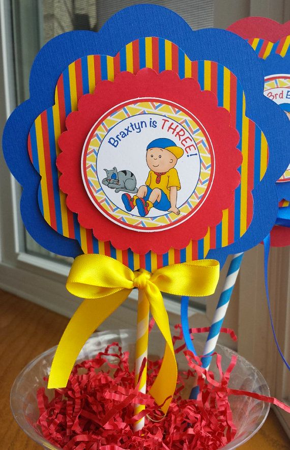 NEW  Caillou Centerpiece 3 Layer by mlf465 on Etsy
