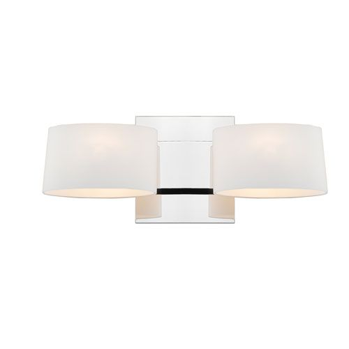 Clio Chrome Two Light Wall Sconce