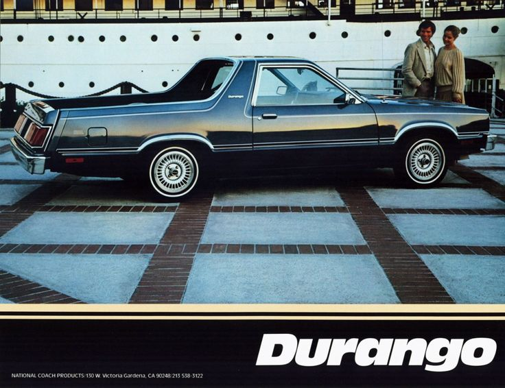 Ranchero Sequel Remembering the ShortLived Ford Durango