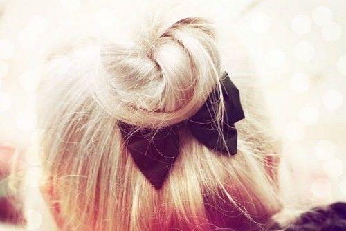 Bow bow bows: Hairbows, Cute Bows, Bows Ties, Bows Buns, Cute Ideas, Black Bows, Hair Bows, Health And Beautiful, Hair Buns