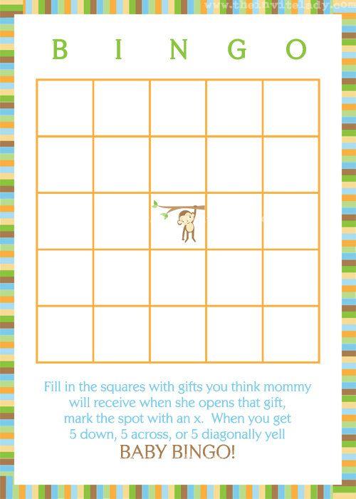 baby bingo monkey baby shower game cards iu0027m pretty sure we can recreate