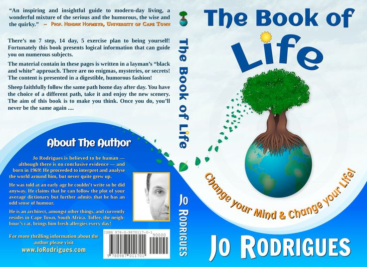 This is the full Dust Cover for the Printed version of The Book of Life.