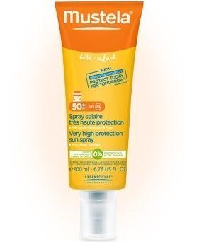 Mustela Very High Protection Sun Spray SPF50+ 200 ml  Bebek ve çocukların yüz ve vücudu için güneş spreyi  69.50 TL olan ürünümüz şimdi %25 İNDİRİMLE 52.13 TL !