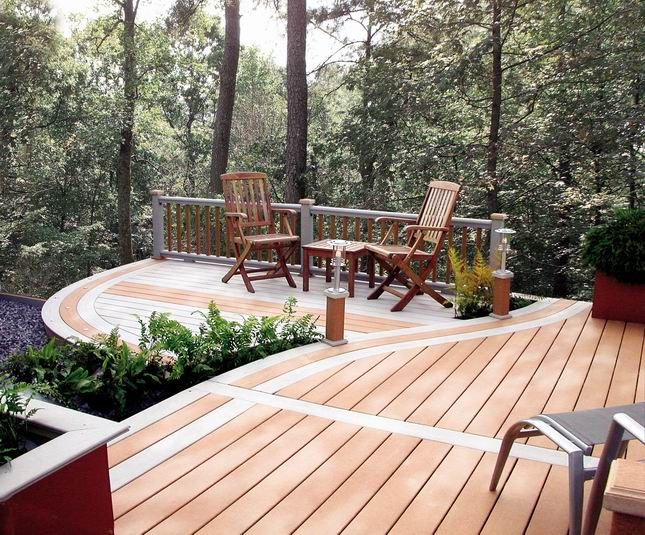 17 best images about wood deck on pinterest terrace for Hardwood outdoor decking