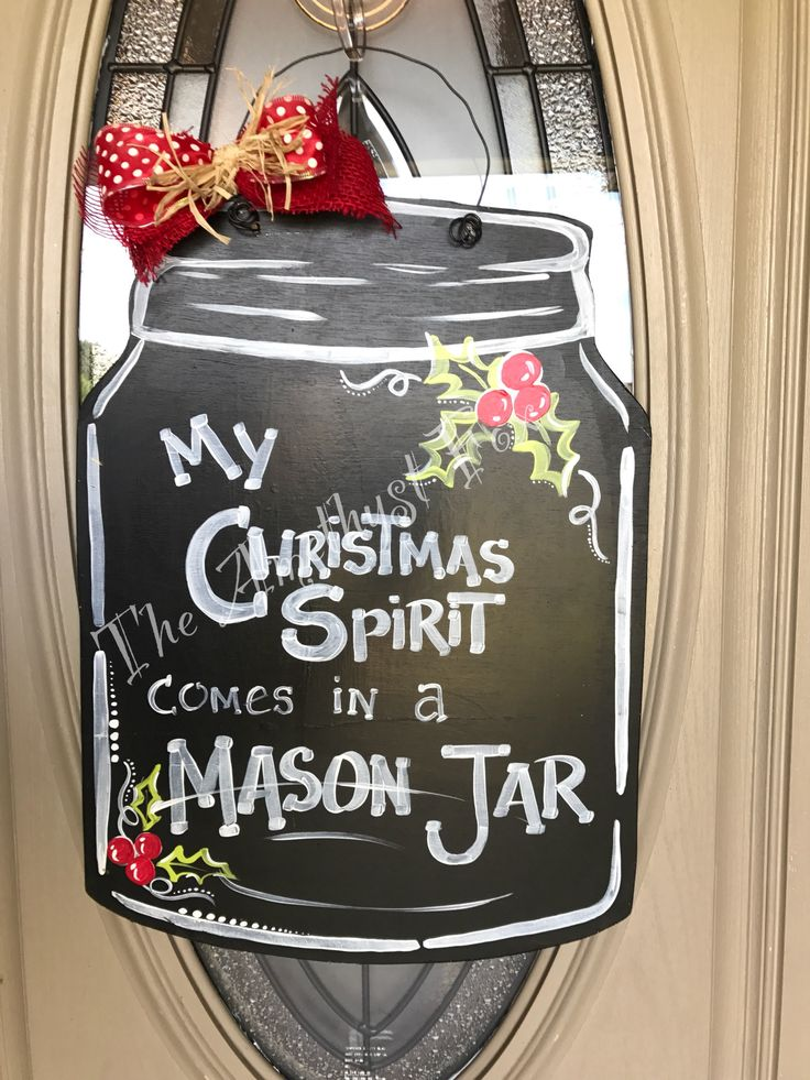 268 Best Mason Jar Door Hangers Images On Pinterest Burlap Crafts Painted Doors And Painted