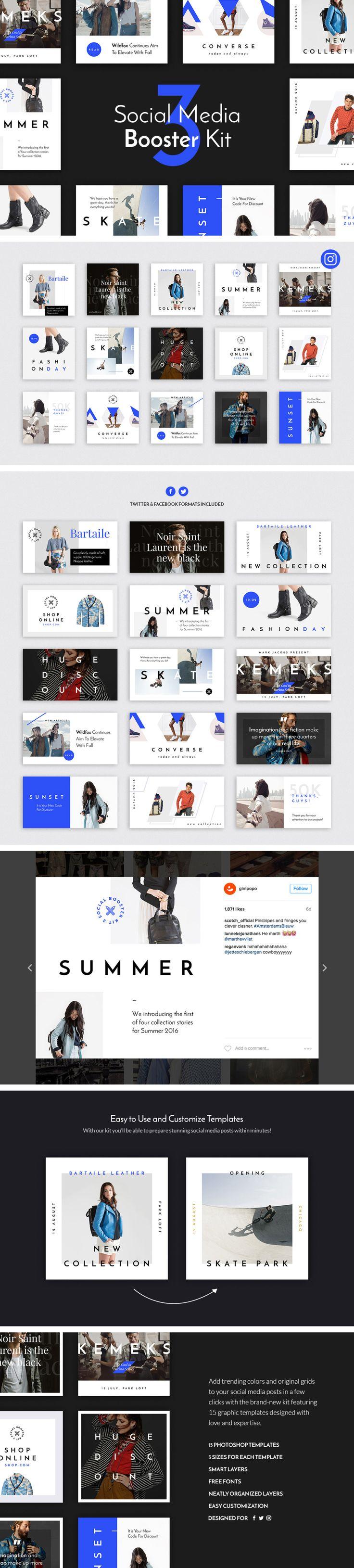 15 Creative social media templates