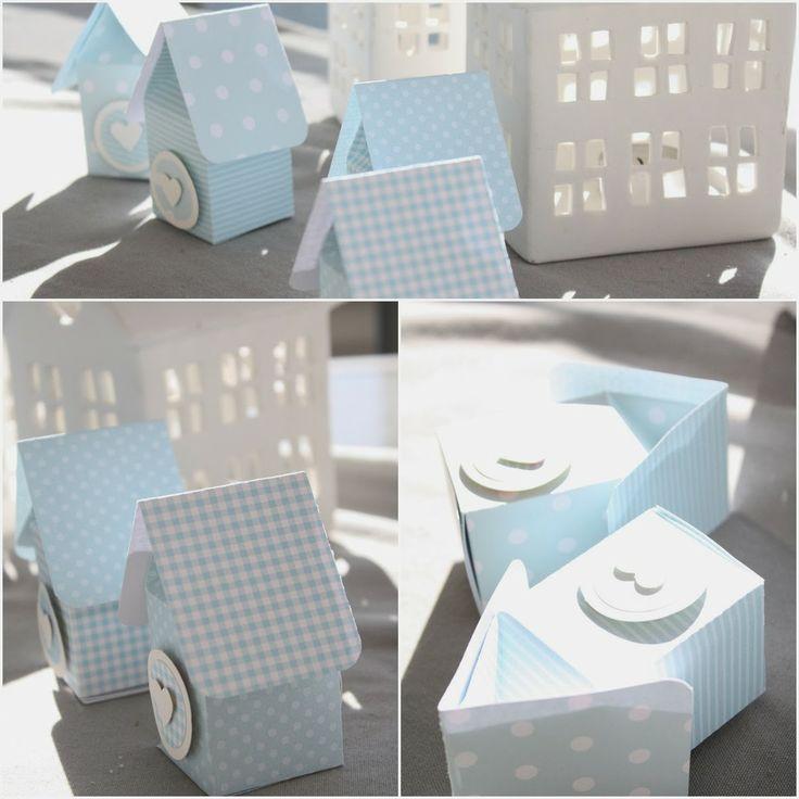 Doosjes in de vorm van een huisje. Zijn ze gemaakt van een melkpakjes-doosje???