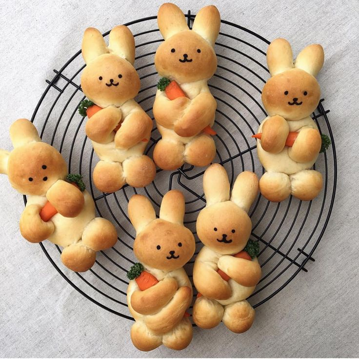 Could there possibly be anything cuter than these bunny breads!? 🧡 @konel_bre…   – Backen