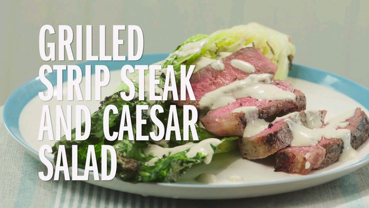 Grilled Strip Steak and Caesar Salad — Grill romaine and steak for a salad with layers of smoky flavor. From Food Network Kitchens and @Target