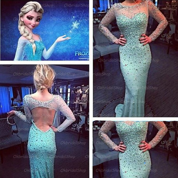The long sleeve mermaid prom dress are fully lined, 4 bones in the bodice, chest pad in the bust, lace up back or zipper back are all available, total 126 colors are available. This dress could be custom made, there are no extra cost to do custom size and color. Description of long sleeve mer...