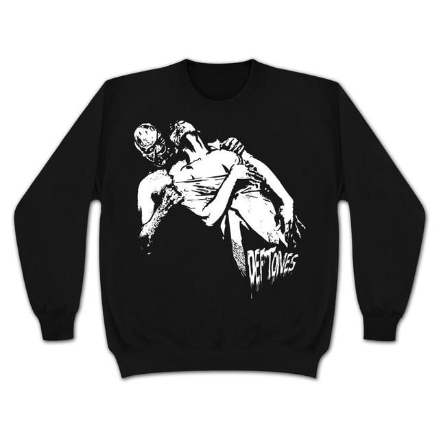 Check out Deftones Horror Throwback Pullover Crew Hoodie on @Merchbar.