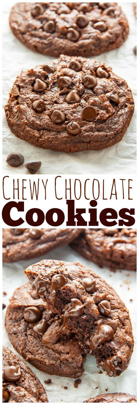 Extra Chewy Chocolate Fudge Cookies! Rich, chocolatey, vegan goodness.