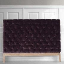 PLUM velvet upholstered headboards from MOLLYSHOME.COM for a luxurious bedroom feel. More colours available!