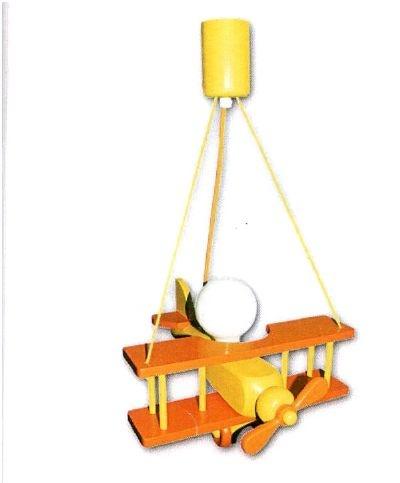 $126 PENDENTE AEREOPLANO    LAMPADARIO  AEROPLANO XXL NEI COLORI GIALLO/ARANCIONE IN LEGNO    LAMPADA MAX 60 W/E27    ADATTO ANCHE PER LAMPADE A BASSO CONSUMO    LAMPADA NON INCLUSA      Prezzo: 99,00 € (iva compresa)   Disponibilità: DISPONIBILE SUBITO