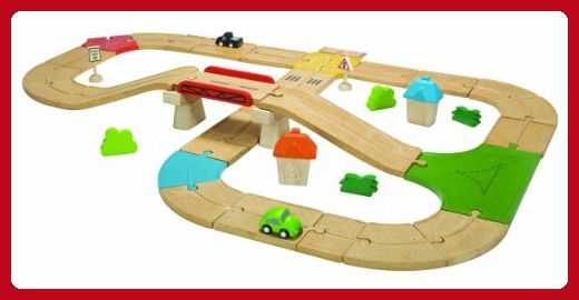 Plan Toys City Road and Rail Roadway Set - Toys for little kids (*Amazon Partner-Link)