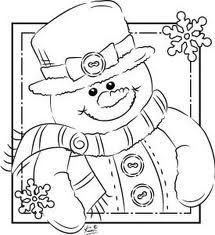 ADORABLE snowman! Free coloring image to print for kids