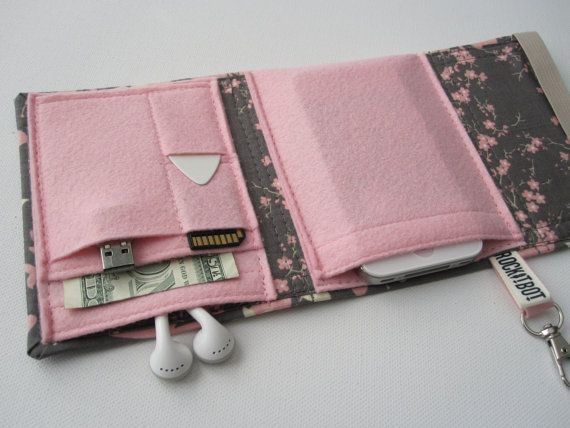 Nerd Herder gadget wallet in Blushing Butterfly for by rockitbot, $29.00