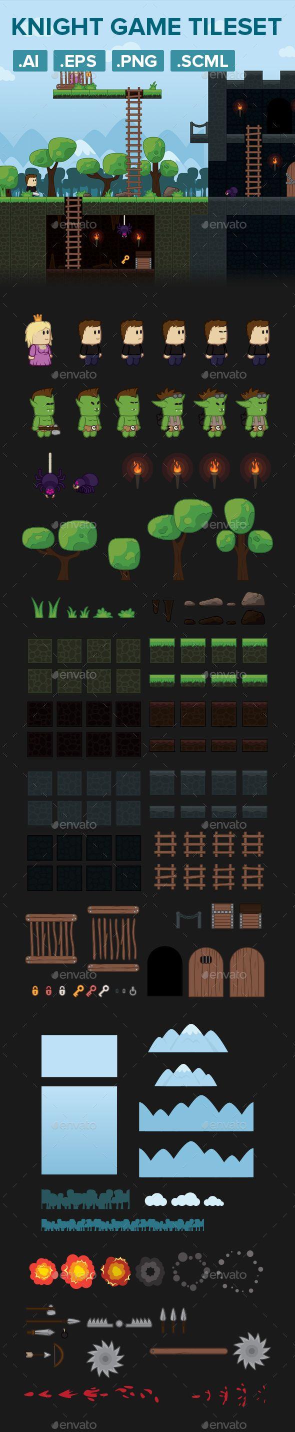 Warrior Platformer Game Tileset and Assets Download here: https://graphicriver.net/item/warrior-platformer-game-tileset-and-assets/19562342?ref=KlitVogli