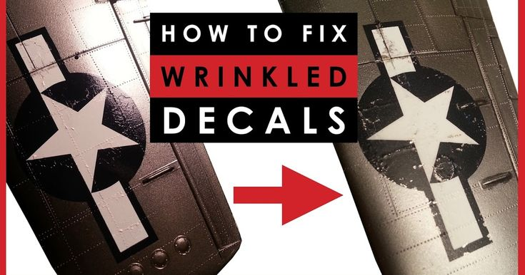 How to fix wrinkles and bubbles in scale model decals.