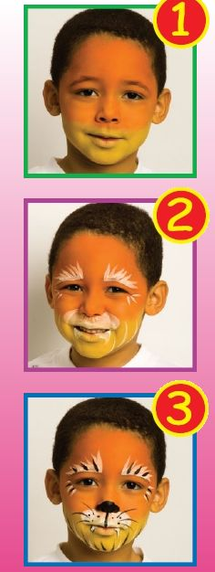 TIGER face painting for children - Kids FACE PAINTING