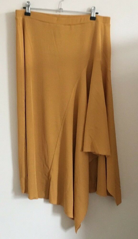 5bfc236f35 New Look Size 18 Ladies Mustard Yellow Ribbed Asymmetric Skirt BNWT  #fashion #clothing #shoes #accessories #womensclothing #skirts (ebay link)