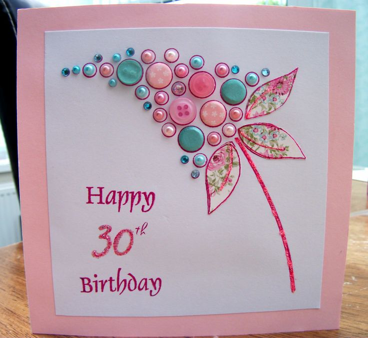 Card Making Ideas 30th Birthday Part - 49: 30th Birthday Card - Made Using Woodware Clea Bubble Bloom Felicity Stamp. 30th  Birthday CardsCard Ideas ...