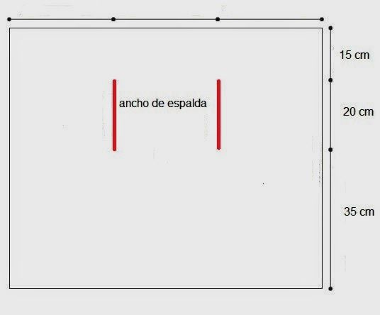Foto obtenida de fashionjot.com ¿Quieres hacer un chaleco como el de la foto? Nada más fácil, solo necesitas un rectángulo de tela con dos aberturas para los brazos. Este es el esquema del patrón::